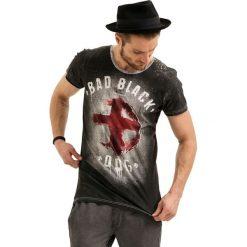 T-shirty męskie z nadrukiem: T-shirt w kolorze czarnym ze wzorem