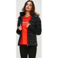 Calvin Klein Jeans - Kurtka puchowa. Brązowe kurtki damskie jeansowe marki Calvin Klein Jeans, l. Za 999,90 zł.