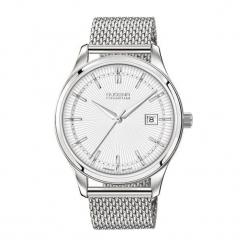 """Zegarek """"7090210"""" w kolorze srebrno-białym. Białe, analogowe zegarki męskie Dugena & Nautec No Limit, ze stali. W wyprzedaży za 629,95 zł."""