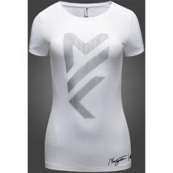 Koszulka damska Maciek Kot Collection TSD281 - biały. Białe bluzki damskie 4f, z nadrukiem, z bawełny. Za 29,99 zł.
