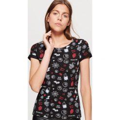 Koszulka z motywami HALLOWEEN - Czarny. Czarne t-shirty damskie marki Cropp, l. Za 29,99 zł.