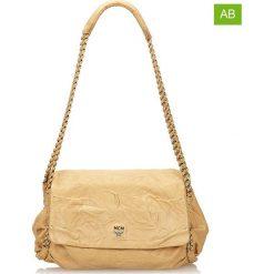 Torebki klasyczne damskie: Skórzana torebka w kolorze beżowym – 20 x 34 x 13 cm