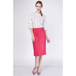 Spódniczki: Czerwona Spódnica Ołówkowa Midi