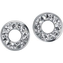 Kolczyki damskie: Steel Basicline® Flesh Tunnel Crystal Clear Kolczyki – Earpin srebrny