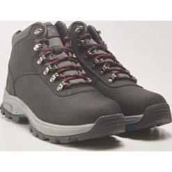 Skórzane buty trekkingowe - Czarny. Czarne buty trekkingowe męskie marki ROCKRIDER. Za 229,99 zł.