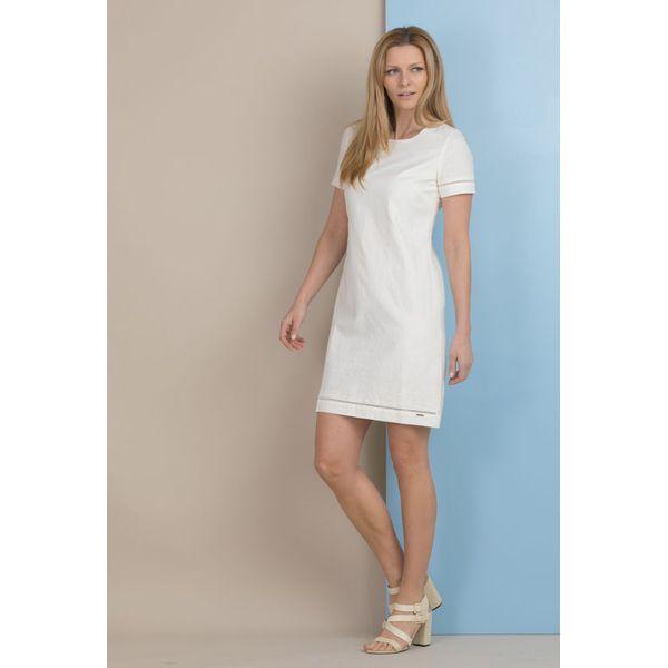 2d2784a61a Lniana sukienka na lato - Szare sukienki damskie Monnari