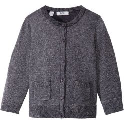 Swetry dziewczęce: Sweter rozpinany z połyskiem bonprix antracytowy melanż brokatowy
