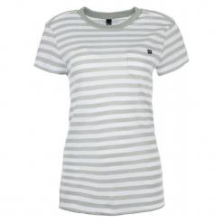 FOX T-Shirt Damski Striped Out Crew L Kremowy. Białe t-shirty damskie FOX, l, w paski. Za 134,00 zł.