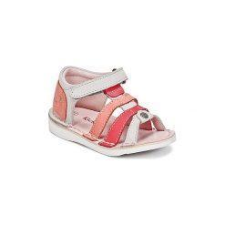 Sandały Dziecko  Kickers  WOOPY. Niebieskie sandały dziewczęce marki Kickers, z kauczuku, na sznurówki. Za 181,30 zł.