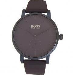 Zegarek kwarcowy w kolorze granatowym. Czarne, analogowe zegarki męskie marki HUGO BOSS, ze stali. W wyprzedaży za 739,95 zł.