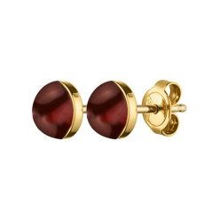 Kolczyki damskie: Kolczyki w kolorze złotym z jaspisem