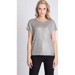 Bluzki asymetryczne: Szara metaliczna bluzka QUIOSQUE