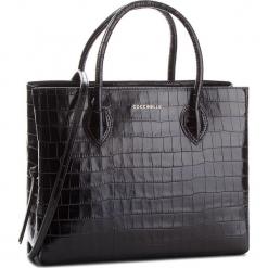Torebka COCCINELLE - CG6 Farisa Croco E1 CG6 18 01 01 Noir 001. Czarne torebki klasyczne damskie Coccinelle, ze skóry. Za 1999,90 zł.
