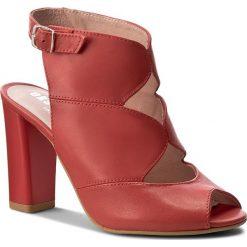 Rzymianki damskie: Sandały EKSBUT – 37-4610-G71-1G Czerwony Lic