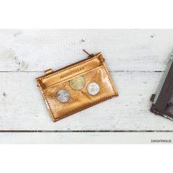 MIKRO +|- / Orange Gold - portfel ze skóry. Pomarańczowe portfele damskie Pakamera, ze skóry. Za 119,00 zł.
