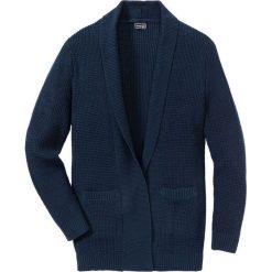 Długi sweter bez zapięcia Regular Fit bonprix ciemnoniebieski. Niebieskie swetry klasyczne męskie marki bonprix, l, z dzianiny. Za 109,99 zł.