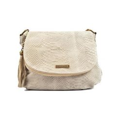 Torebki klasyczne damskie: Skórzana torebka w kolorze beżowym – (S)23 x (W)29 x (G)13 cm