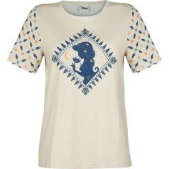 Aladyn Jasmin Koszulka damska beżowy. Brązowe bluzki nietoperze Aladyn, m, z nadrukiem, z okrągłym kołnierzem. Za 54,90 zł.