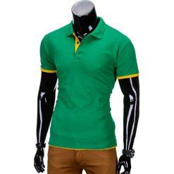 KOSZULKA MĘSKA POLO BEZ NADRUKU S758 - ZIELONA. Zielone koszulki polo Ombre Clothing, m, z nadrukiem. Za 39,00 zł.