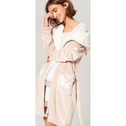Szlafrok - Brązowy. Brązowe szlafroki kimona damskie Reserved, l. Za 129,99 zł.