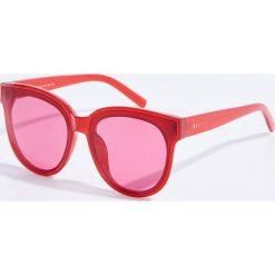 Okulary przeciwsłoneczne damskie aviatory: Okulary przeciwsłoneczne – Czerwony