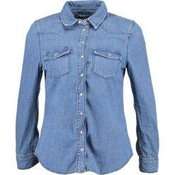 Koszule wiązane damskie: Topshop Petite GIGI Koszula blue denim
