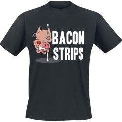 T-shirty męskie z nadrukiem: Bacon Strips T-Shirt czarny