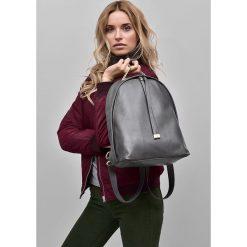 Plecaki damskie: Skórzany szary plecak CARMEN Vera Pelle