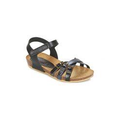 Sandały Dziecko  Kickers  BONAVISTA. Niebieskie sandały dziewczęce marki Kickers, z kauczuku, na sznurówki. Za 230,30 zł.