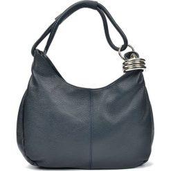 Torebki i plecaki damskie: Skórzana torebka w kolorze granatowym – (S)39 x (W)28 x (G)3 cm