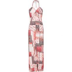 Sukienka plażowa bonprix czerwony wzorzysty. Czerwone sukienki na komunię bonprix, na plażę, z nadrukiem, ze sznurowanym dekoltem. Za 69,99 zł.