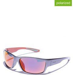 Okulary przeciwsłoneczne męskie: Okulary męskie w kolorze szaro-pomarańczowym
