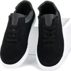 SYDNEY tekstylne trampki damskie czarne. Czarne tenisówki damskie Ideal Shoes. Za 99,99 zł.