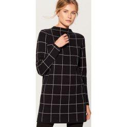 Długi sweter ze stójką - Czarny. Niebieskie swetry klasyczne damskie marki ARTENGO, z elastanu, ze stójką. Za 139,99 zł.