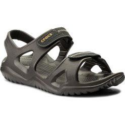 Sandały CROCS - Swiftwater River Sandal M 203965  Espresso/Black. Brązowe sandały męskie marki Crocs, z tworzywa sztucznego. W wyprzedaży za 149,00 zł.