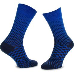 Skarpety Wysokie Męskie DOTS SOCKS - DTS-SX-081-X Granatowy. Niebieskie skarpetki męskie Dots Socks, z bawełny. Za 19,90 zł.