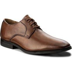 Półbuty CLARKS - Gilman Lace 261297727 Dark Tan Leather. Brązowe półbuty skórzane męskie Clarks. W wyprzedaży za 269,00 zł.