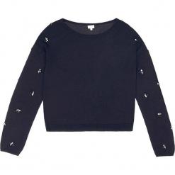 Sweter kaszmirowy w kolorze granatowym. Niebieskie swetry klasyczne damskie marki Ateliers de la Maille, z kaszmiru, z okrągłym kołnierzem. W wyprzedaży za 272,95 zł.