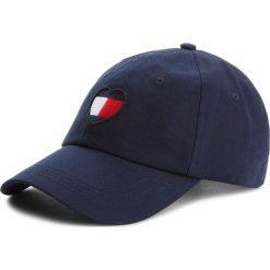 Czapka z daszkiem TOMMY JEANS - Tjw Flag Heart Cap AW0AW05636 413. Niebieskie czapki z daszkiem damskie Tommy Jeans, z bawełny. Za 159,00 zł.