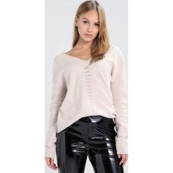 Swetry klasyczne damskie: Topshop Petite POINT FRONT Sweter light pink