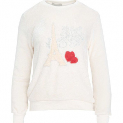 Kremowa Bluza Rare. Białe bluzy damskie Born2be, l, z aplikacjami, z dresówki. Za 59,99 zł.