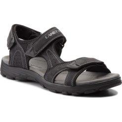 Sandały LANETTI - MS17011-1 Czarny. Czarne sandały męskie skórzane Lanetti. Za 79,99 zł.