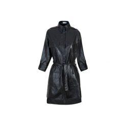 Sukienka z Kieszeniami Czarna. Czarne sukienki asymetryczne Kozacki Mops, s, w paski, z asymetrycznym kołnierzem. Za 199,00 zł.