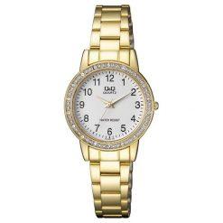 Zegarki damskie: Zegarek Q&Q Damski QA27-004 Cyrkonie Biżuteryjny