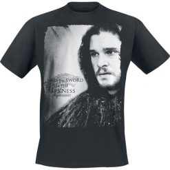 T-shirty męskie z nadrukiem: Gra o Tron Jon Snow – I Am The Sword In The Darkness T-Shirt czarny