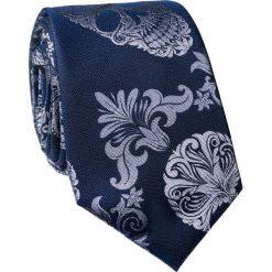 Krawat jedwabny KWGR000224. Niebieskie krawaty męskie Giacomo Conti, z jedwabiu. Za 129,00 zł.