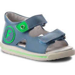Sandały NATURINO - Falcotto By Naturino 0011500709.01.9103 Jeans/Verde Fluo. Niebieskie sandały męskie skórzane Naturino. W wyprzedaży za 259,00 zł.