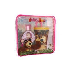 Kosmetyczki damskie: Disney Masha and The Bear zestaw Edt 50 ml + Kubek do picia ze słomką + Kosmetyczka