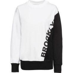 Bluza z nadrukiem bonprix biało-czarny. Białe bluzy rozpinane damskie bonprix, z nadrukiem. Za 59,99 zł.