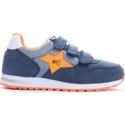 Granatowe Buty Sportowe Moon Is Up. Niebieskie buciki niemowlęce chłopięce marki Born2be, na lato, z materiału, z okrągłym noskiem, na obcasie. Za 54,99 zł.
